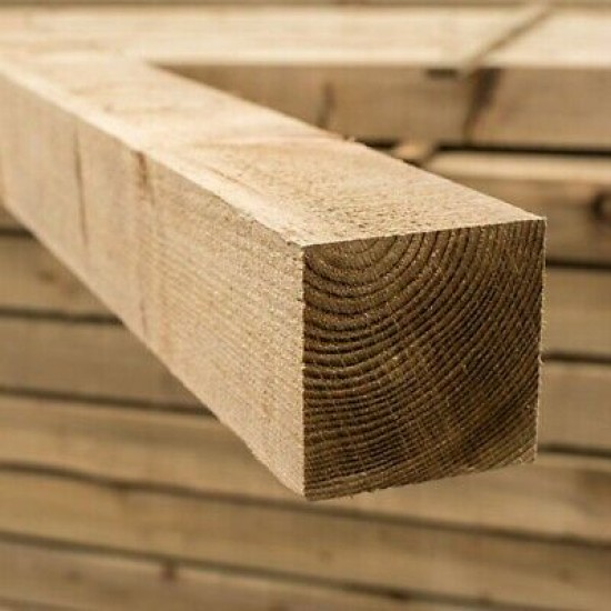 """10FT 4""""x4"""" Wooden Fence Post (3.0M x 100x100MM)"""